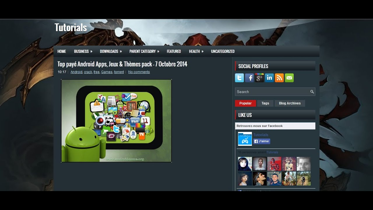 Descargar top paye android apps jeux themes pack para celular #Android