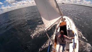 "Sailing ""Thanks Dad""  - Fast sail (for us).  5.5 knots, 6.5 knots, 7.5 knots"