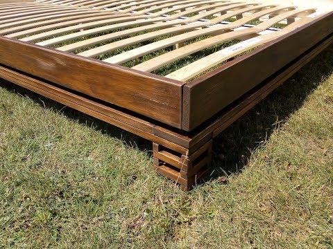 Designerbett aus Schalbrettern bauen