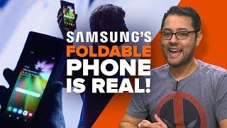 Samsung unveils foldable phone (Alphabet City)
