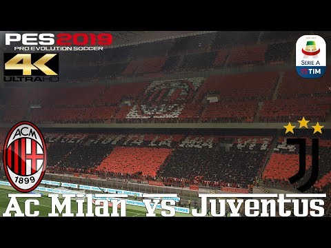 PES 2019 (PC) AC Milan vs Juventus   REALISTIC SERIE A PREDICTION   11/11/2018   4K 60FPS