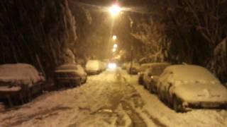 Daksi sous la neige