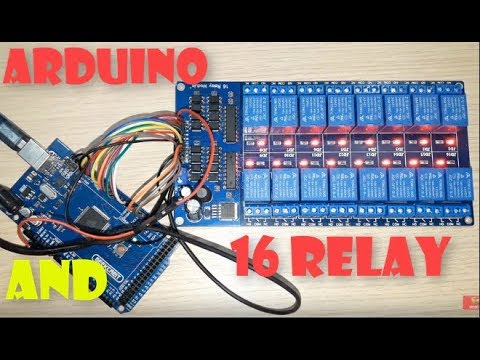 Banggood How To Use and connect arduino with 16 Relay Trigger 12V LM2596