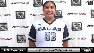 2022 Giana Perez Power Hitting Catcher and First Base Softball Skills Video - Cal A's - Heen