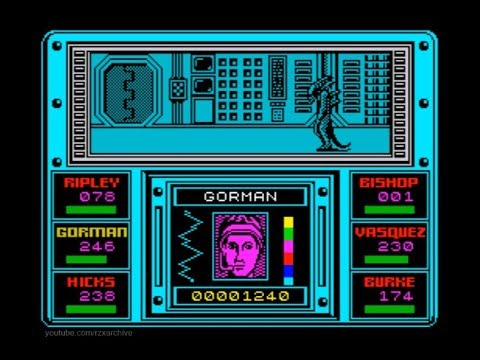 Aliens (UK Version) Walkthrough, ZX Spectrum