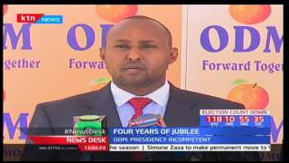 Opposition party ODM reacts to Jubilee's portal showing it's four year achievements