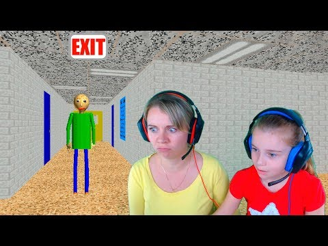 БАЛДИ БАСИКС игра прохождение летсплей с мамой