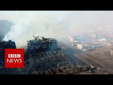China chemical plant explosion: 'The blast smashed it all' - BBC News