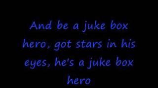 Foreigner- Juke Box Hero With Lyrics