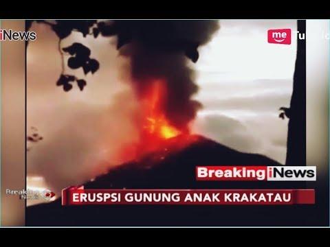 Video Erupsi Gunung Anak Krakatau yang Sebabkan Tsunami Banten - Breaking iNews 23/12