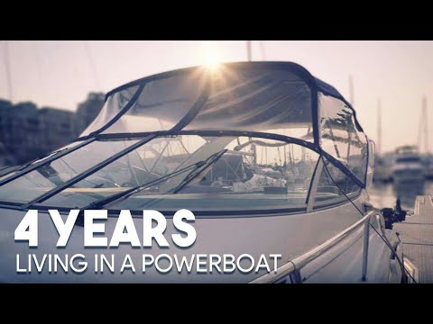 4 years living on a Power boat. The challenges of living small, the positives of minimalism.