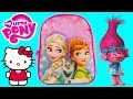 Disney FROZEN Backpack Toy Surprises HELLO KITTY My Little Pony TROLLS S...