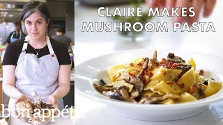 Claire Makes Creamy Pasta with Mushrooms and Prosciutto | From the Test Kitchen | Bon Appetit