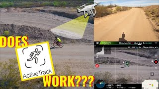 HOW TO USE ACTIVE TRACK ON DJI PHANTOM 4| Testing if my Drone can Track me on my Mountain Bike!