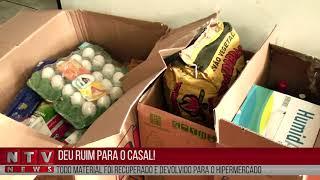 Casal é preso suspeito de furtar mercadorias em supermercado.