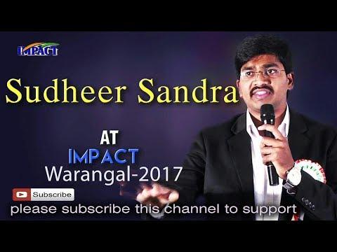 Take Inspiration-DoNot Copy |Sudheer Sandra | TELUGU IMPACT Warangal 2017