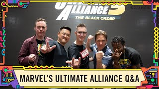 MARVEL ULTIMATE ALLIANCE 3: The Black Order Q&A at SDCC 2019!