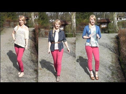 3 Outfits - 1 PINKE Hose (Frühling/Sommer)