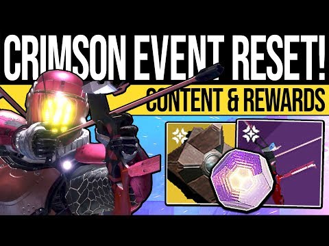 Destiny 2 | CRIMSON RESET & REWARDS! New Weapon, Event Guide, Nightfalls & Eververse (12th February)