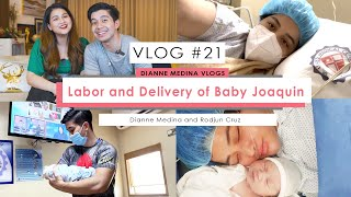 Vlog 21: Birth Vlog + Giveaways | Labor and Delivery of Baby Joaquin | Rodjun Cruz and Dianne Medina