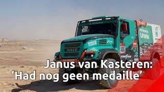 Janus van Kasteren bij finish Dakar Rally: 'Ik had nog geen medaille'