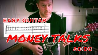 Easy Guitar - Money Talks - AC/DC - Guitar Lesson