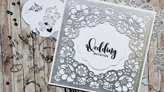 Flower Lace Wedding Invitation | Technique Friday With Els