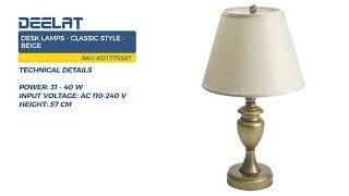 Desk Lamps - Classic Style - Beige