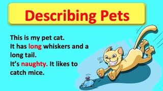 Using Adjectives to describe pets 😸    Easy English Grammar