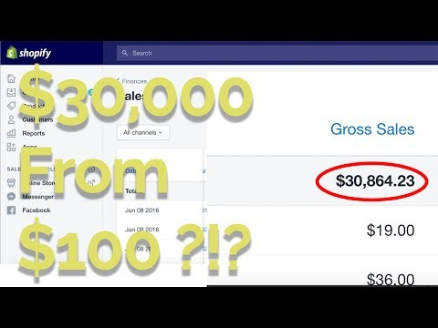 HOW I MADE $30,000 DROP SHIPPING ON SHOPIFY IN ONE MONTH WITH LESS THAN $100 TO START