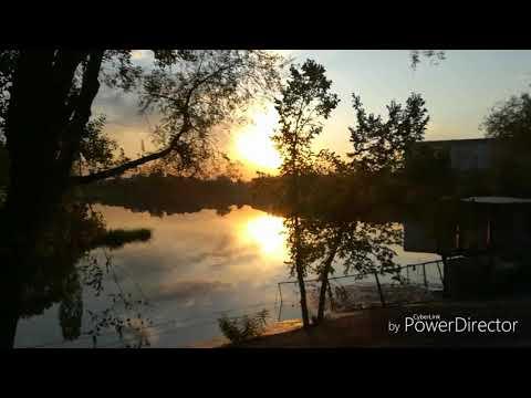 Закат на озере. Алматы. Аэропорт. Как же красиво