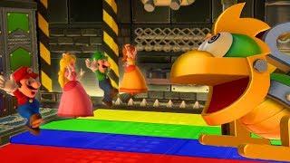 Mario Party 10 - Minigames - Mario vs Luigi vs Peach vs Daisy
