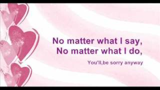 Tata Young - Sorry Anyway (lyrics)