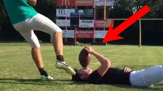 PEOPLE ARE AWESOME (American Sports Edition)   Football & Basketball Trick Shots