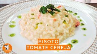 #23 - Risoto Tomate Cereja com Pesto de Manjericão