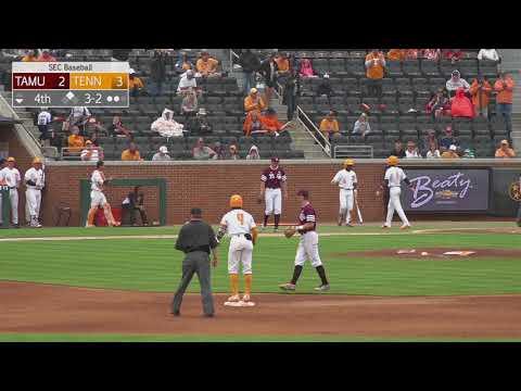 Tennessee Baseball Highlights vs. Texas A&M Game 3 (4.22.2018)