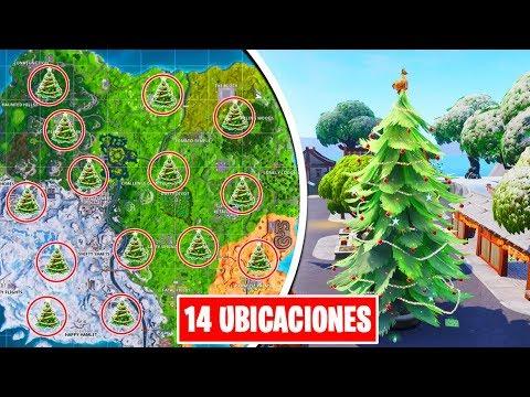 BAILA DELANTE DE ARBOLES DE NAVIDAD DISTINTOS [todas las ubicaciones] - 14 DÍAS FORTNITE EVENTO