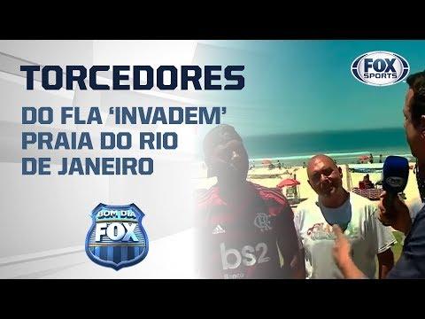 Concentra FOX Sports 'invade' praia do Rio de Janeiro e torcedores se empolgam!