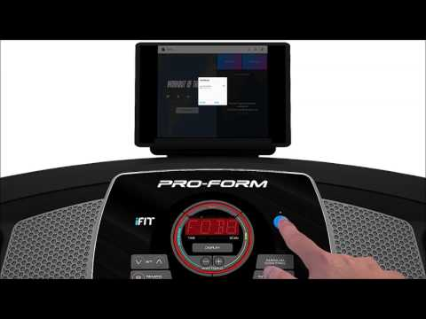 Syncing the iFit Bluetooth tablet app with your console