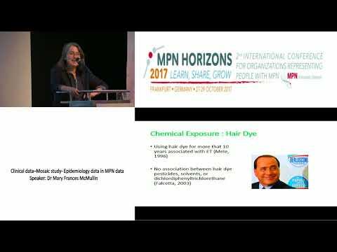 Clinical data–Mosaic study Epidemiology data in MPN data - MPN Horizons 2017