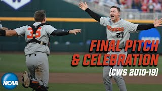 Final pitch and celebration from every College World Series since 2010