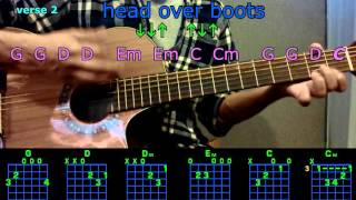 head over boots jon pardi guitar chords