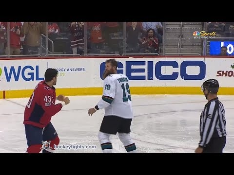 Joe Thornton vs Tom Wilson