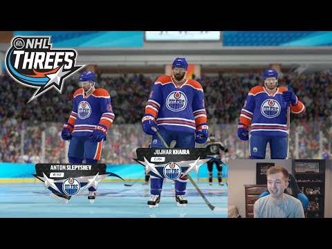 NHL 18 THREES - CAN WE WIN WITH THE WORST TEAM?