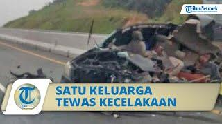 Kecelakaan Innova Menabrak Truk Fuso di Tol Pekanbaru, Satu Keluarga Tewas: Mobil Tak Berbentuk