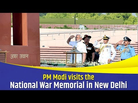 PM Modi visits the National War Memorial in New Delhi