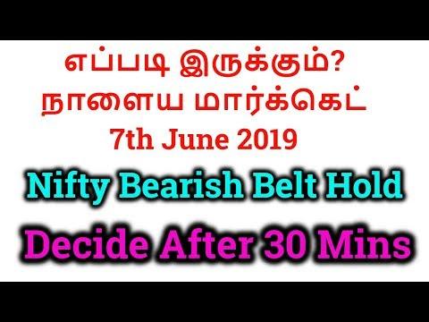 எப்படி இருக்கும்?  நாளைய மார்க்கெட்- 7th June 2019| Nifty Bearish Belt Hold| Tamil Share