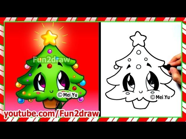 Easy Drawings How To Draw Christmas Tree Cute Christmas