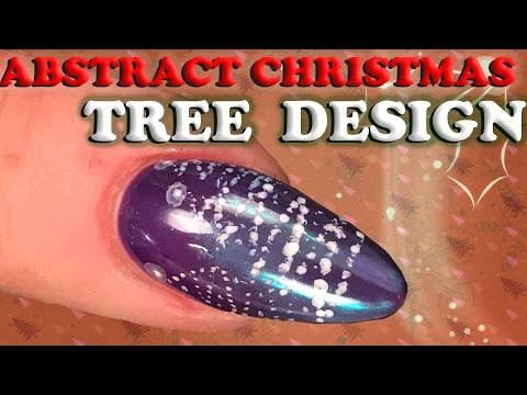 Abstract Christmas Tree Nail Design – Topaz Chrome Pigment – Nail Art Tutorial – Step by Step
