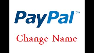 how to change name in paypal account